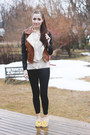 brown Forever 21 jacket - yellow le bunny bleu flats