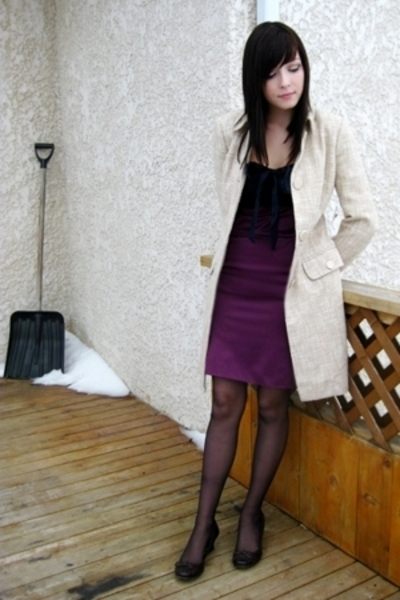 le chateau skirt - Joe Fresh shirt - le chateau jacket - shoes