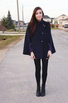 navy Chicwish cape - deep purple girlfriendsmaterial top
