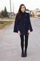 navy Chicwish cape - deep purple girlfriendsmaterial top