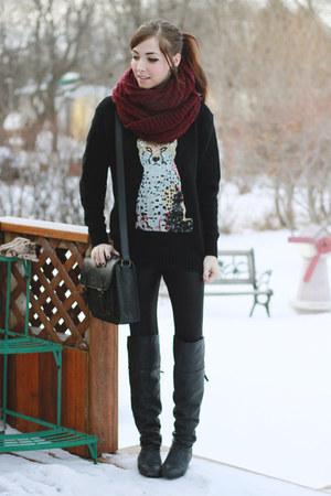 black chic wish sweater