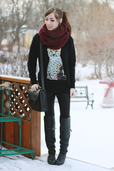 black chic wish sweater