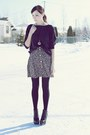 Black-romwe-shoes-gray-girlfriends-material-sweater