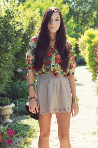 romwe blouse - ianywear skirt