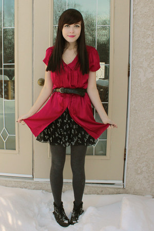 red le chateau dress - black Spring boots