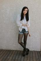 black wwwromwecom romwe tights - light blue Forever 21 shorts