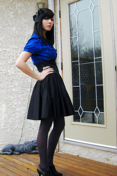skirt - black Icing accessories - blue Seduction shirt