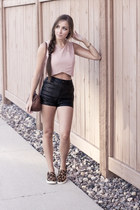 light pink Club Couture top - brown Steve Madden sneakers
