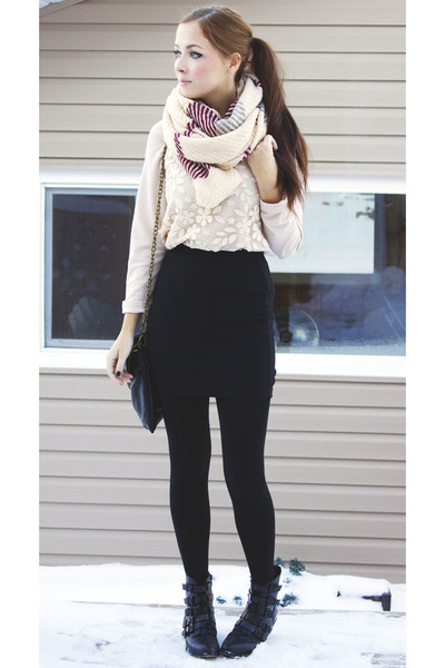 off white awwdore blouse - crimson yubsshop scarf