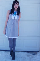 gray Forever 21 dress - gray Forever 21 shoes