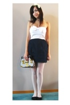 urban behavior dress - Aldo leggings - Betsey Johnson purse