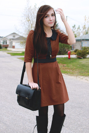 brown miss patina dress