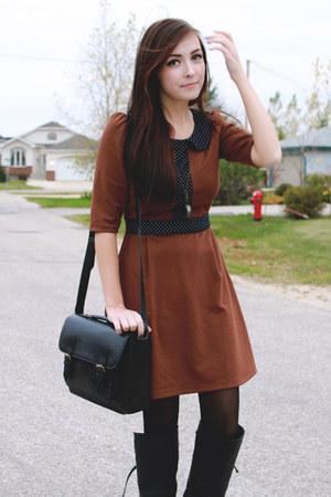 brown miss patina dress