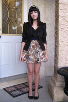 H&M blazer - Forever 21 skirt - Joe Fresh shoes
