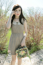 beige miss patina dress