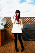 rickis jacket - le chateau scarf
