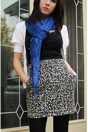 le chateau scarf - Urban Behaviour shirt - Costa Blanca skirt - Seduction tights