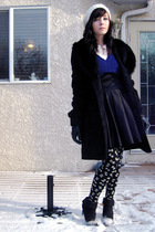 purple the gap sweater - white kiki tights - white joe fresh style hat