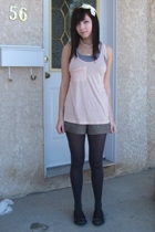 urban behavior top - Volcom Stone top - Sirens shorts - Club Monaco tights - sho