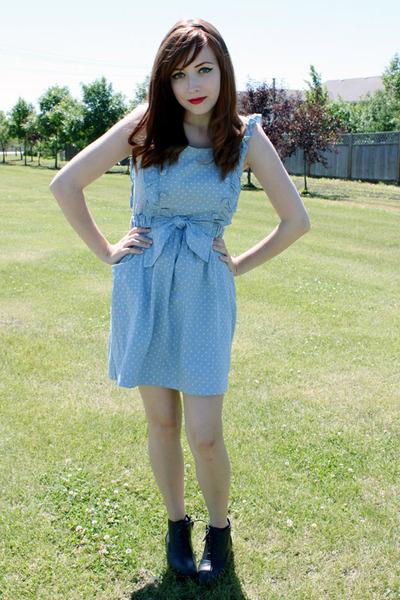 blue miss patina dress - black Spring