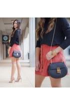 coral mini skirt asos skirt