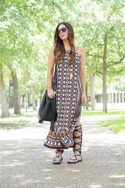 black maxi dress topshop sandals quot midi dress quot by
