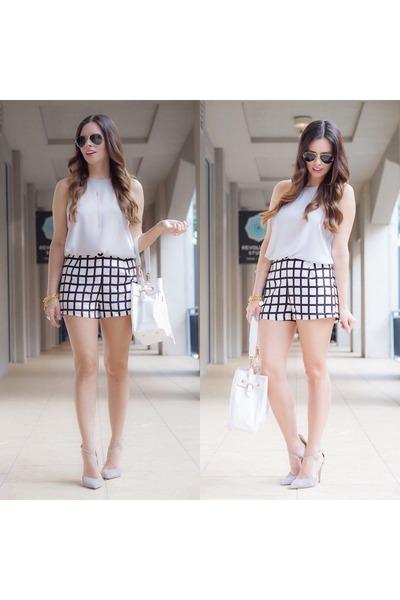 silver shorts shorts