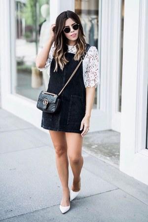 black pinafore dress Nordstrom dress