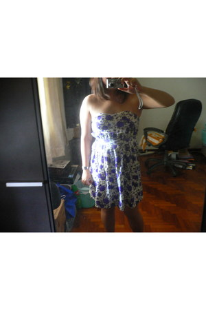 deep purple purple floral blogshop dress dress