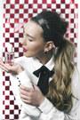 White-h-m-blouse-white-zara-skirt-black-accessorize-earrings