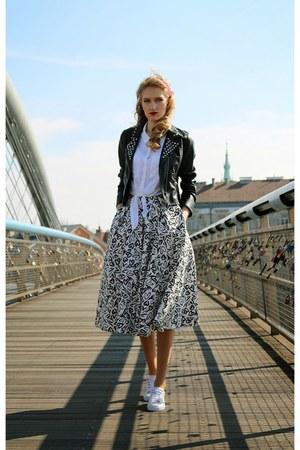 Stradivarius shoes - H&M shirt - reserved bag - Mohito skirt