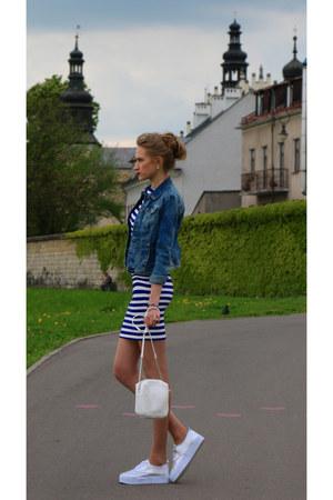 Mohito dress - H&M shoes - Bershka jacket - Mohito bag - reserved bracelet