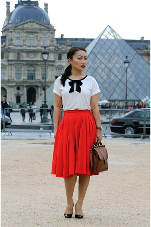 Christian Louboutin shoes - coach bag - J Crew top - Leanne Barlow skirt