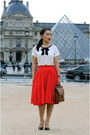 Christian-louboutin-shoes-coach-bag-j-crew-top-leanne-barlow-skirt