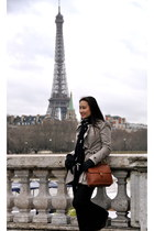 coach bag - idra coat - beret Paris Street Vendor hat - Zara scarf