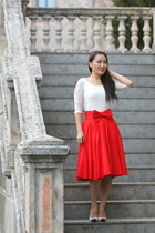 LeanneBarlow skirt - Renee C top - Zara heels