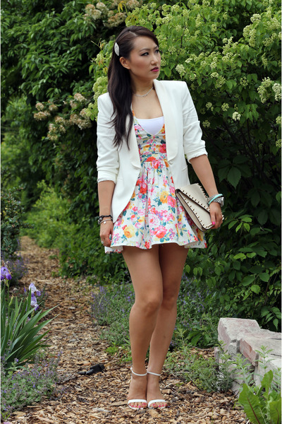 Dailylook dress - Zara blazer - Dailylook bag - Zara sandals