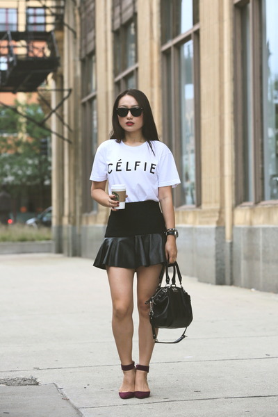 Célfie Tee from SincerelyJulescom t-shirt - Zara shoes - coach bag