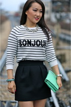 JCrew bag - asos sweater - JCrew necklace - Zara skirt - Zara heels