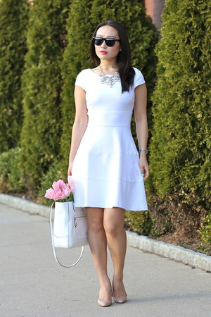 Cartier watch - JCrew shoes - banana republic dress - coach bag