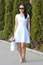 Cartier watch - JCrew shoes - banana republic dress - coach bag