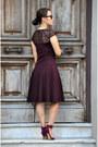 Crimson-deletta-dress-eskell-sunglasses-crimson-zara-heels-h-m-necklace
