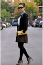 Yellow-banana-republic-bag-banana-republic-top-dark-brown-gap-skirt