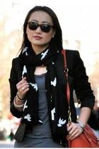 Zara scarf - banana republic boots - Gap jeans - Mango blazer - coach bag