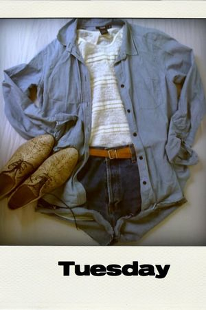 brown vintage bought in Paris belt - blue Filippa K blouse - blue Levis Capital 