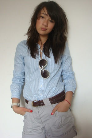 French Connetion sunglasses - H&M blouse - H&M shorts