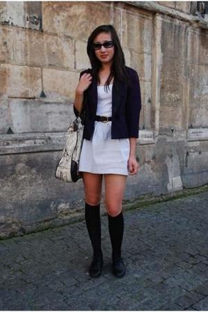 lux uo blazer - H&M vest - vintage belt - Primark skirt - from Thailand accessor
