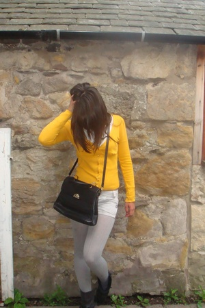Zara sweater - Bally purse - Topshop shorts - Topshop shoes