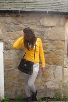 Zara sweater - Bally purse - Topshop shorts - Topshop shoes