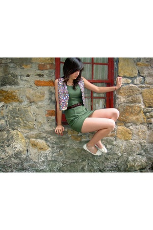 Harrods coat - Paradox dress - vintage belt - Zara shoes